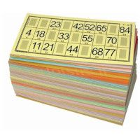 lot de 96 cartons de loto grand taille V2